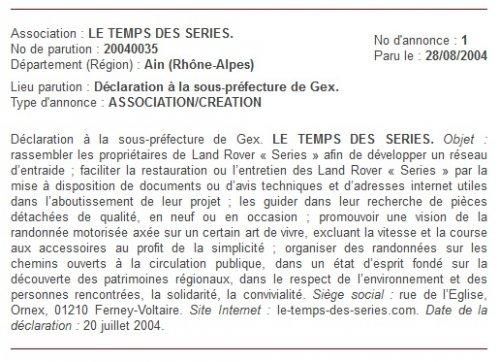 Statuts Le Temps Des Series